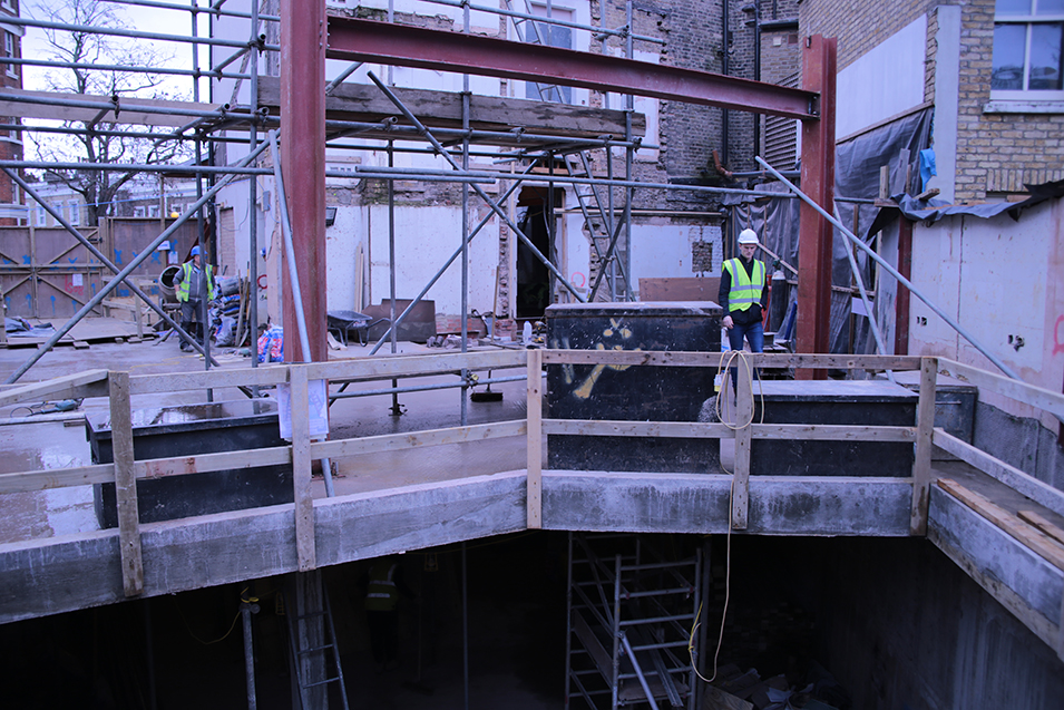Basement works in Battersea