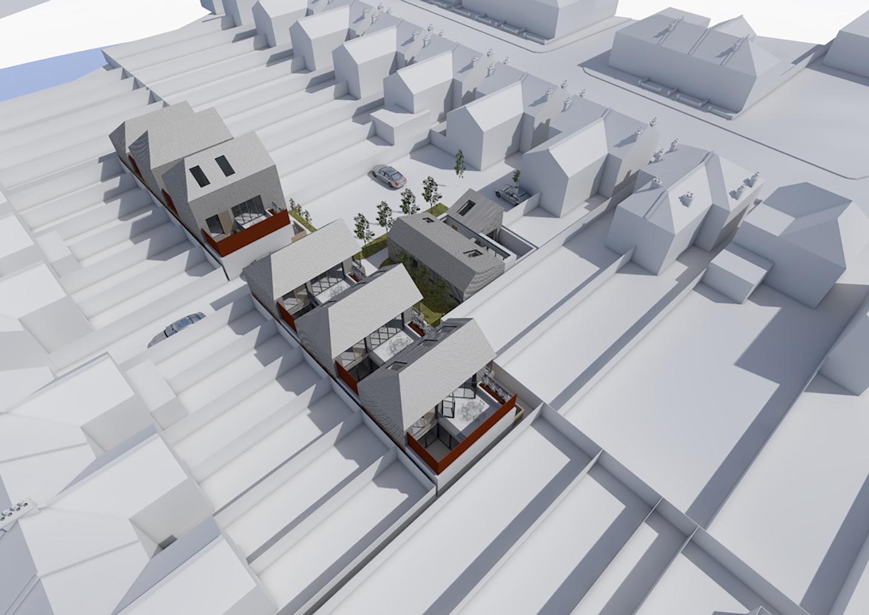 Development of print factory into housing