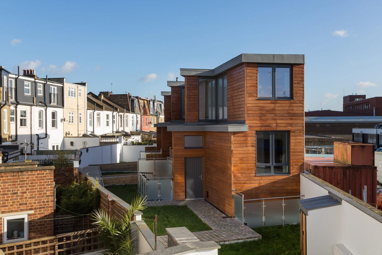 Brownfield development site in London