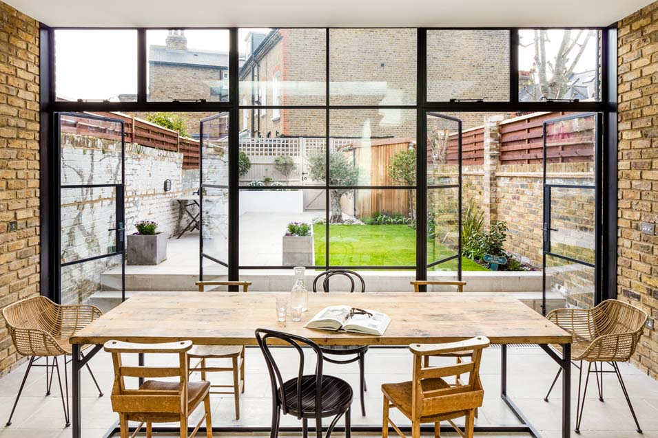 inspirational glazing design using steel framed windows